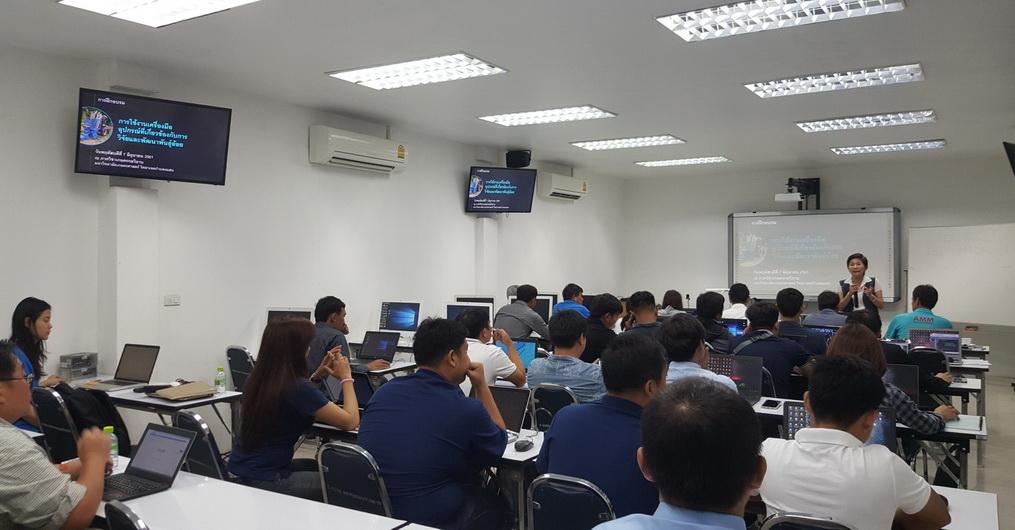 เมื่อวันที่ 7 มิถุนายน 2561 ที่ผ่านมา คณะที่ปรึษาโครงการฯ ได้จัดอบรมการใช้เครื่องอุปกรณ์การวิจัยและพัฒนาพันธุ์อ้อย ณ ภาควิชาเกษตรกลวิธาน
