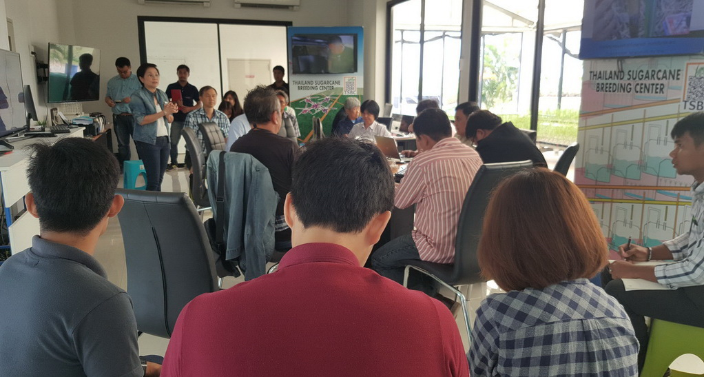 เมื่อวันที่ 28 มิถุนายน 2561 ที่ผ่านมา คณะที่ปรึกษาได้จัดประชุมจัดทำแผนการวิจัยที่เกี่ยวข้องเพื่อเพิ่มประสิทธิภาพการปฏิบัติงาน ของ TSBC และ ร่างหลักสูตรฝึกอบรมสำหรับผู้สนใจด้านอ้อย
